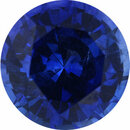 One-of-a-Kind Sapphire Loose Gem in Round Cut, Medium Violet Blue, 5.19 mm, 0.67 Carats