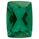 Grade GEM CHATHAM CREATED EMERALD Antique Cushion Cut  - Calibrated