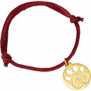 14K White .02 CTW Diamond Dog Paw Red Cord 6.5-8
