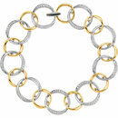 14KT White Gold & Yellow 3/4 CTW Diamond Link Bracelet