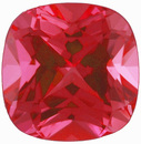 Grade GEM CHATHAM CREATED PADPARADSCHA SAPPHIRE Antique Square Cut Gems  - Calibrated