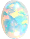 Grade GEM CHATHAM CREATED WHITE OPAL Oval Cut Gems  - Calibrated