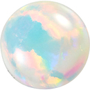 Grade GEM CHATHAM CREATED WHITE OPAL Round Cut Gems  - Calibrated