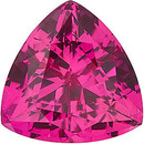 Grade GEM CHATHAM CREATED PINK SAPPHIRE Trillion Cut Gems  - Calibrated