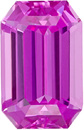 Gorgeous Fine Sapphire Loose Gemstone in Emerald Cut, Rich Pure Pink, 10.0 x 6.4 mm, 3.15 carats - GRS Certified - SOLD