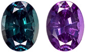 Rare Brazilian Fine Alexandrite Loose Oval Cut Gemstone in Vivid Teal to Rich Eggplant, 7.7 x 5.8 mm, 1.30 carats - Gubelin Certified