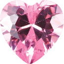 PINK CUBIC ZIRCONIA Heart Cut Gems - Calibrated
