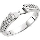 Elegant Diamond Accented Preset Ring Shank for Peg Mounting in 14kt White Gold -  Choose Diamond Ct Weight