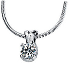 14KT Yellow Gold 6.5mm Round Forever Classic Moissanite Pendant