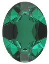 Imitation Emerald Oval Cut Gems