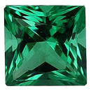 Imitation Emerald Princess Cut Gems