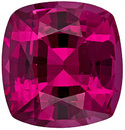 Super Vibrant Spinel Loose Gem in Cushion Cut, Rich Rose Red, 8.1 x 7.7 mm, 2.48 carats