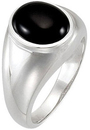 14KT White Gold Onyx Ring