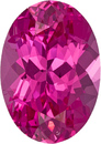 Neon Hot Pink Spinel from Tanzania Loose Gem in Oval Cut, 7.3 x 5.1 mm, 0.96 Carats