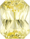 No Treatment Yellow Sapphire Ceylon Gem in Radiant Cut, 7.1 x 5.4 mm, 1.62 Carats - With GIA Certficate