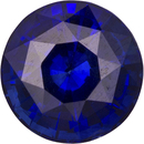 Vibrant Pure Blue Sapphire Loose Madagascar Gem in Round Cut, 6.3 mm, 1.22 Carats