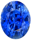 Unheated Exceptional Fine Blue Sapphire Genuine Gemstone, AGTA Cert, Oval Cut, 3.25 carats - SOLD