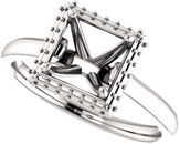 Square Halo Style Engagement Ring Mounting for 4.00 mm - 10.00 mm Center - Customize Metal, Accents or Gem Type