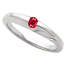 Fun & Fashionable Band Ring With Bright Red .16ct 5.20mm Round GEM Ruby Gemstone Solitaire Center