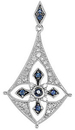 Sterling Silver Sapphire & 1/5 Carat Total Weight Diamond Pendant