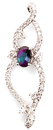 Fancy and Fun Infinity Genuine Alexandrite and Diamond Pendant for SALE - 14k White Gold - 0.52 carats, 5.81 x 4.45 mm