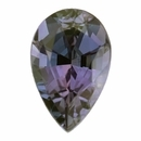 Nice Alexandrite Loose Gem in Pear Cut,  Vibrant Blue Green to Light Pink Purple, 6.32 x 4.12  mm, 0.55 Carats