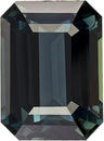Blue Green Natural Sapphire Loose Gem in Emerald Shape, Rich Blue Green Color in 8.9 x 6.5 mm, 2.72 Carats