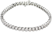 14KT White Gold 6 CTW Diamond Line 7.25