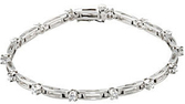 14KT White Gold 1 1/3 CTW Diamond Line 7.25