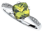 Peridot & Diamond Accented Ring
