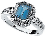 London Blue Topaz & Diamond Ring