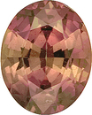Interesting Unusual Brownish Pink Sapphire Loose Gemstone -  Oval Cut, 3.79 carats