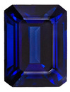 Natural Unheated Blue Sapphire - Fine Rich Blue Color, Emerald Cut , 6.11 carats, with AGTA Certificate
