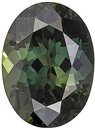 Charming Rich Green With a Tinge of Blue Colored Sri Lankan Green Sapphire - A Great Find, Oval Cut, 8 x 5.9 mm, 1.63 carats