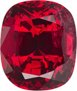 Rich Red   Spinel - Excellent Clarity, Cut & Life, 7.1 x 6.1 mm, Cushion Cut, 1.59 carats