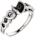 Chic Accented Engagement Ring Mounting For Cushion Shape Centergem Sized 5.00 mm to 8.00 mm - Customize Metal, Accents or Gem Type