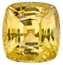 A True Gem! AGTA Certified, Unheated Intense Yellow Sapphire with Great Clarity, Cushion Cut, 6.4 carats