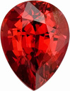 Mesmerizing, Deep Orangey Red, Bright Burmese Red Spinel Gemstone, Pear Cut, 0.99 carats - SOLD