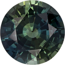 Vivid Green Sapphire with GIA Cert - Unheated Rare Gem in Round Cut, 8.21 x 8.28 x 4.98 mm, 2.54 carats