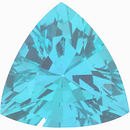 Imitation Blue Zircon Trillion Cut Gems