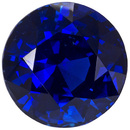GIA Certified Beautiful No Heat Blue Sapphire Round in Vivid Rich Blue, 7.4 x 7.4 mm, 2.09 carats