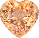 Beautiful GIA Orange Pad Like Sapphire Loose Gemstone in Heart Cut, Brilliant Orange Color in 7.73 x 7.78 mm, 2.07 Carats - With GIA Certificate