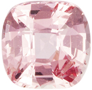 GIA Certified Padparadscha Sapphire Gem in Cushion Cut, Orange Peach Pink, 6.16mm, 1.28 carats - With GIA Certificate