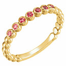 14KT Yellow Gold Ruby Stackable Ring