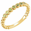 14KT Yellow Gold Peridot Stackable Ring