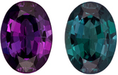 Superb Gem in Alexandrite in Oval Cut, Dramatic Color Change in Rich Eggplant to Teal Blue, 5.7 x 4.1 mm, 0.43 carats