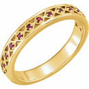 14KT Yellow Gold 1.3 mm Ruby Stackable Ring