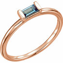 14KT Rose Gold London Blue Topaz Stackable Ring