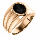 14KT Rose Gold Onyx Men's Bezel Ring