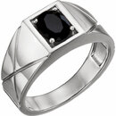 14KT White Gold Onyx Men's Ring